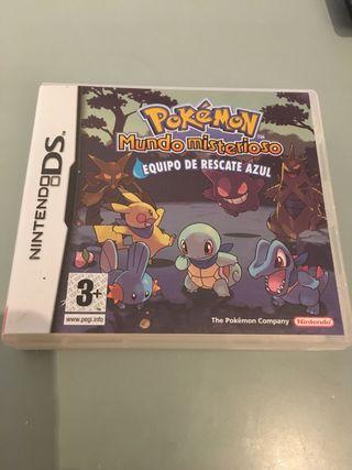 Pokémon mundo misterioso equipo d rescate azul Nds