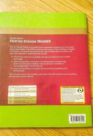 Libro de ingles first for schools Trainer