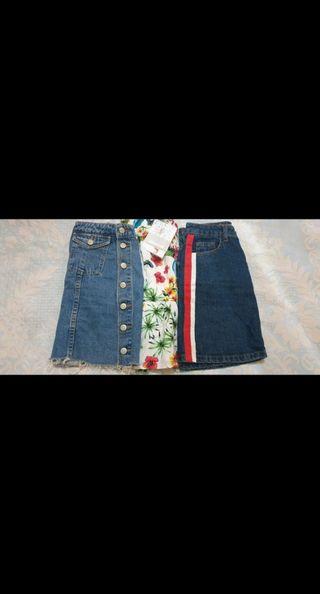pack 3 faldas