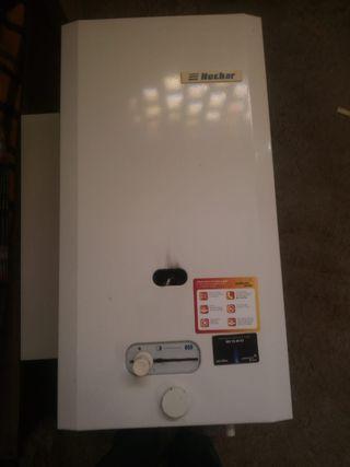 Calentador de agua de gas.
