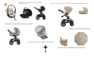 Lote Carrito, silla auto, portabebés y accesorios