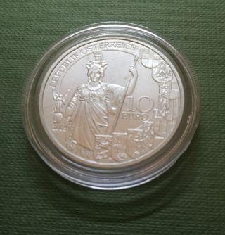 Moneda 10 euros Austria 2005 - 60 aniv segunda rep