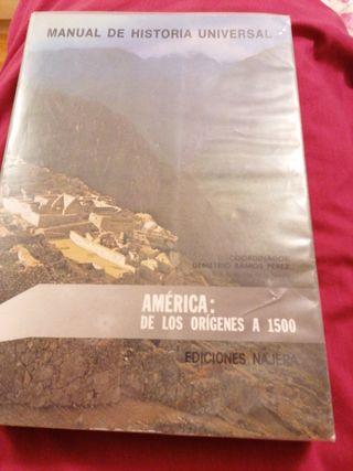 Manual de historia universal.America origenes 1500