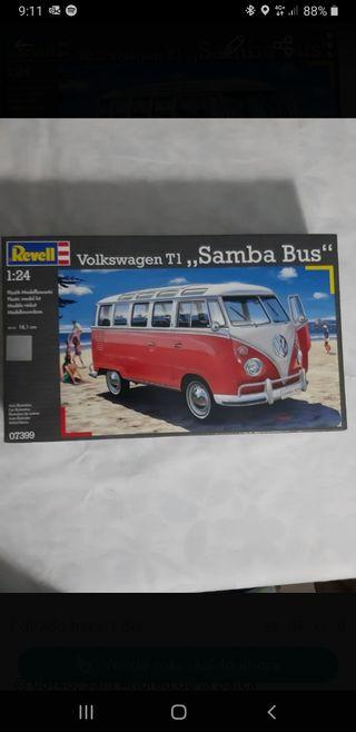 maqueta wolswagen t1 samba bus 1/24