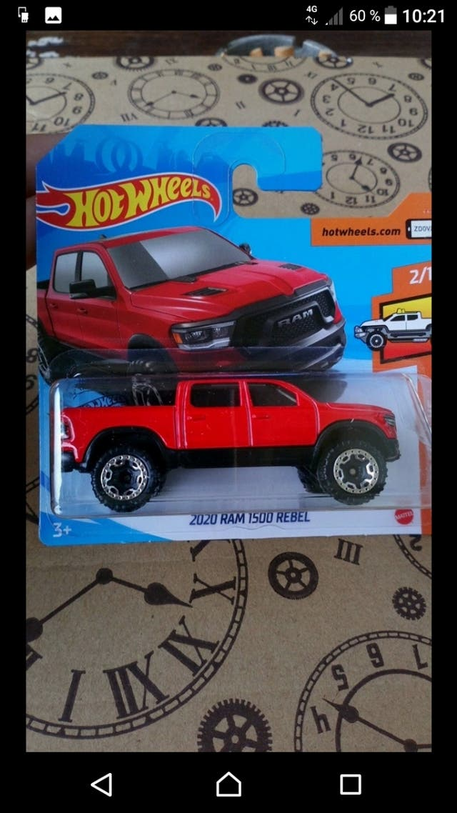2020 Dodge Ram 1500 Rebel Red Hot wheels