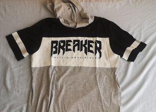 camiseta manga corta con capucha hombre