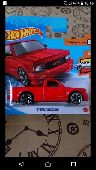 '91 GMC Syclone Red Hot wheels
