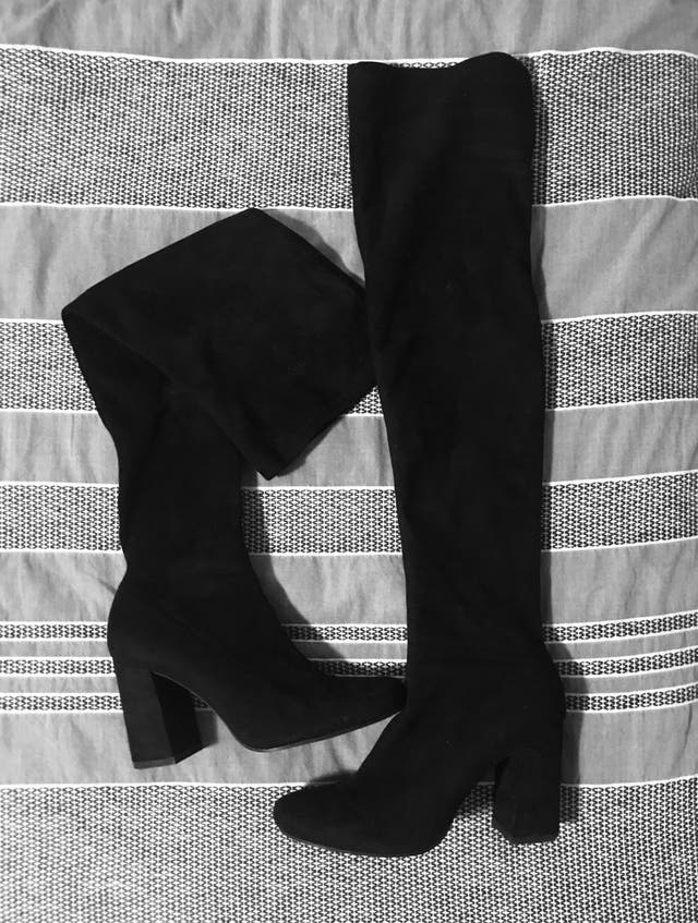Above knee black boots