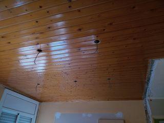 techo de madera en listones