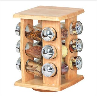 Especiero giratorio de madera