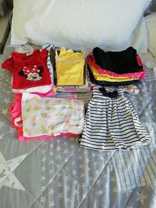 19 piezas de ropa niña de 12 a 24 meses