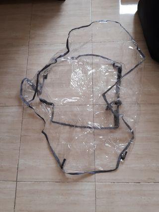 protector lluvia, funda plástico,cobertor silla.