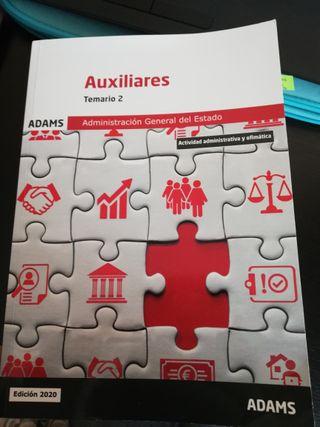 TEMARIO ADAMS Aux. Administrativo Estado