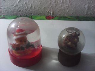 lote de 2 bolas de nieve motivos navideños