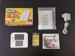 Nintendo 2DS Super Mario Bros 2 + Mario Kart 7