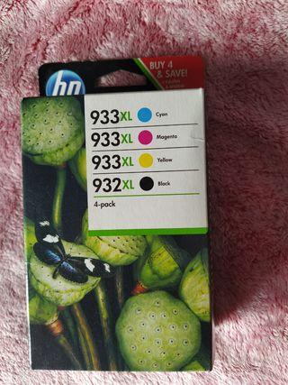 TINTA HP 932XL/933 XL PACK 4 COLORES