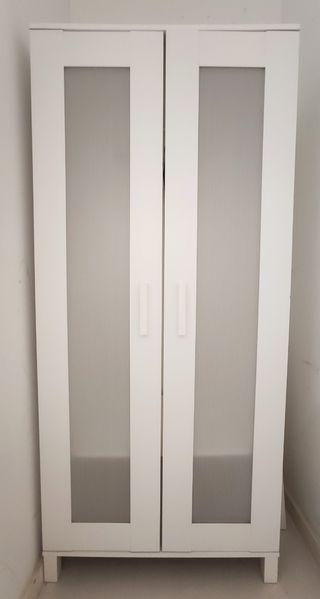 Armario blanco dos puertas Ikea. 180x51x80cm