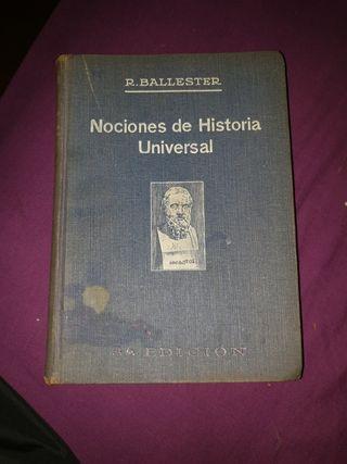 LIBRO DE R.BALLESTER NOCIONES DE HISTORIA UNIVERSA