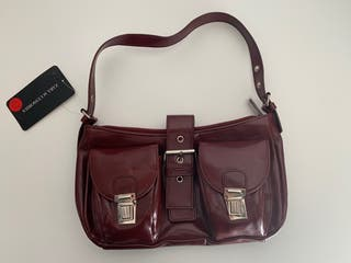 Bolso color burdeos ZARA