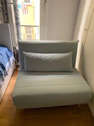 Sofá cama de 1 plaza verde agua NUEVO