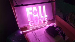 Cartel luminoso logo fall guys