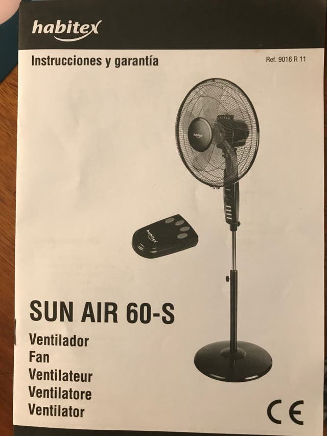 ventilador de pie, Sun Air 60s de Habitex
