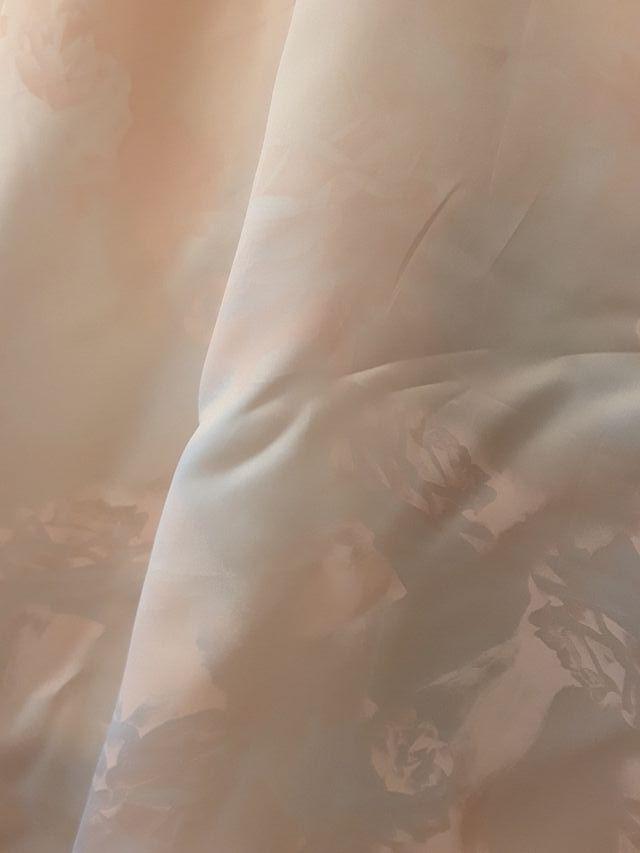 Tela organza seda estampada