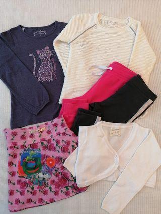 Lote ropa niña talla 5-6 años