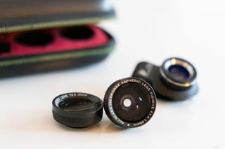 Objetivos fotográficos para teléfono móvil.