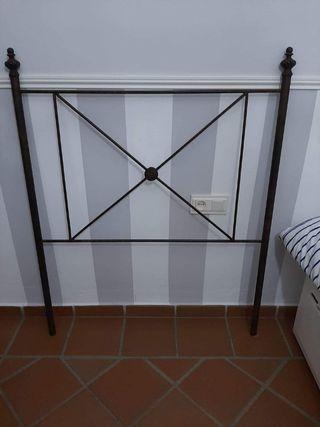 cabecero cama individual de forja