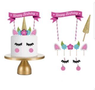 Decoración cumpleaños de unicornio