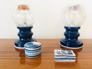 Pareja lámparas de mesa Mazzega vintage