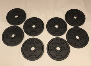 8 discos pesas 2 kg Decathlon