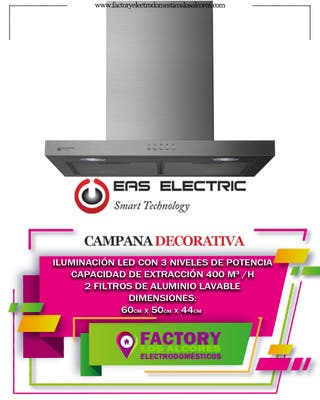 CAMPANA DECORATIVA EAS ELECTRIC 60CM