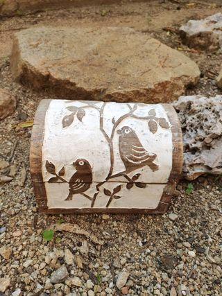 Caja madera,cofre madera Nuevo tallado India