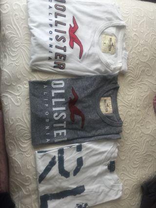 2 camisetas Hollister,1 Scalpers y 1 Ralph L
