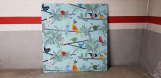 Cuadro tela Ikea - Decoración pájaros