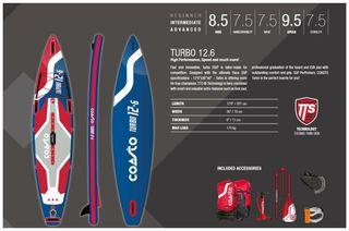 tabla paddle surf coasto turbo 12.6