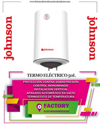 TERMO ELECTRICO JOHNSON 50 LTS