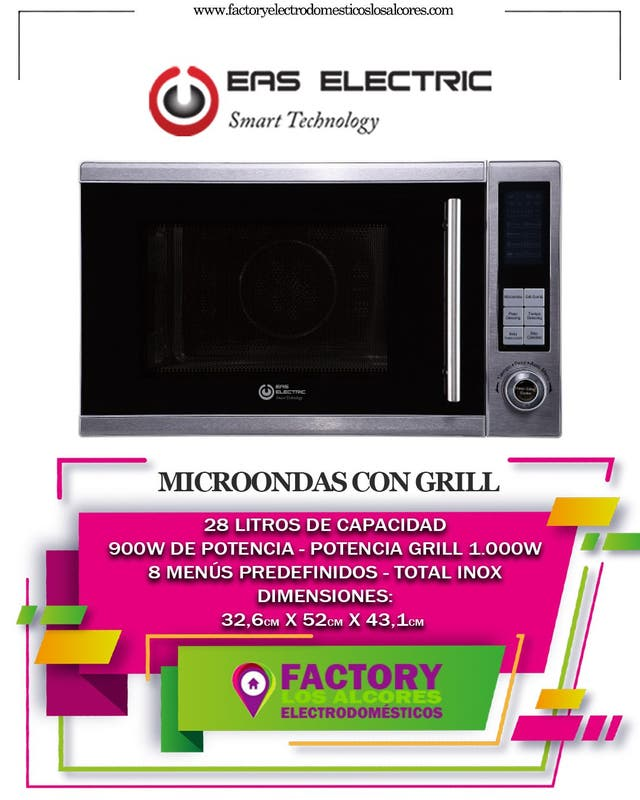 NICROONDAS EAS ELECTRIC 28LTS GRILL