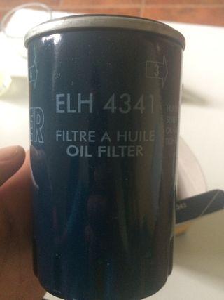 Filtro de aceite nuevo.
