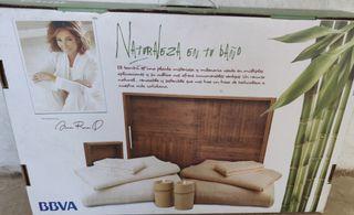 Toallas y bandejas de bambú