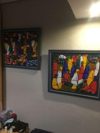 Pintura náif original ( pareja)