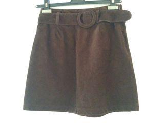 Denim Brown Skirt