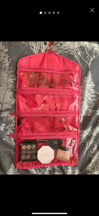 Victoria secret makeup bag including makeup