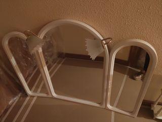 Espejos+apliques+toallero+estantería