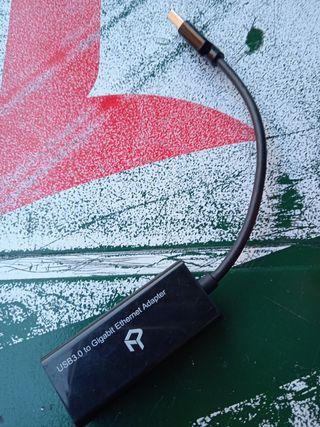 Adaptador Tarjeta de Red Externa NIC USB 3.0 a 1 P