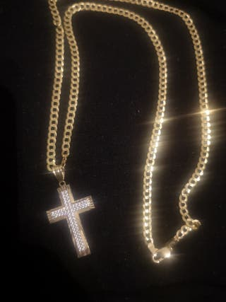 cadena de oro 14kt maciza