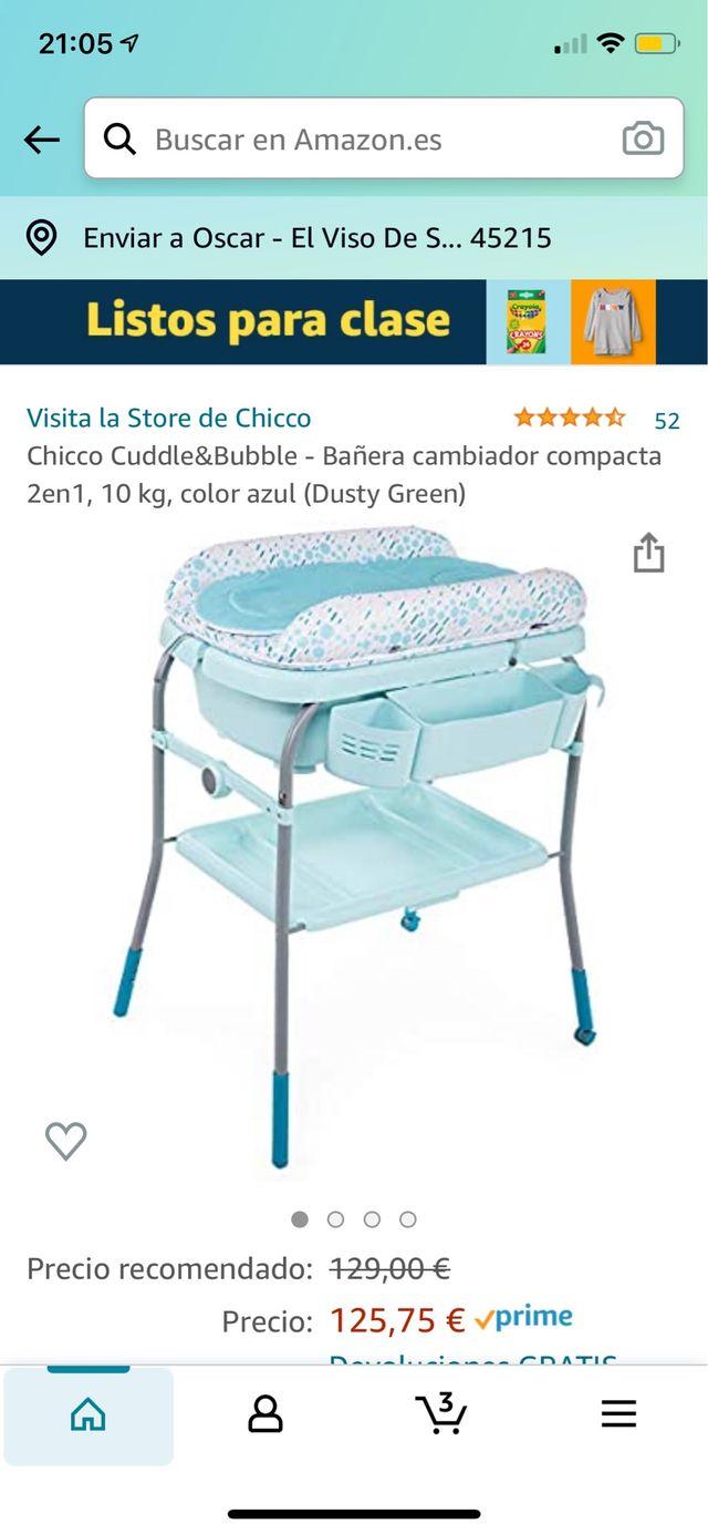 Bañera cambiador bebes
