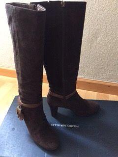 Botas de ante marrón